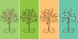 Sezonu cztery drzewa Fotografia Stock