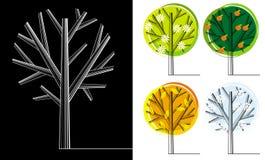 sezonu drzewo royalty ilustracja