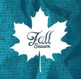 'sezonu jesiennego' tekst jesieni liść z pisania tłem EPS1 ilustracji
