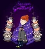 Sezonu ` s powitań wektoru ilustracja Zdjęcia Stock