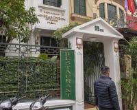 Sezony Hanoi, sławna restauracja w Hanoi, kapitał Wietnam obrazy royalty free