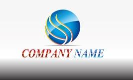 Sfär cirkel, logo, globalt som är abstrakt, affär, företag, korporation, oändlighet, uppsättning av den runda designen för symbol Royaltyfria Bilder