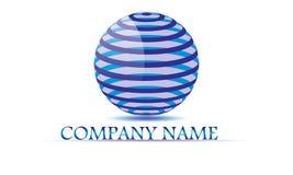 Sfär cirkel, logo, globalt som är abstrakt, affär, företag, korporation, oändlighet, uppsättning av den runda symbolssymboldesign Royaltyfri Fotografi