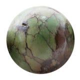 Sfär från naturliga den isolerade turkosgemstonen Arkivfoton