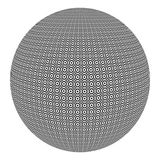 Sfär med svartvita cirklar Royaltyfri Bild
