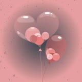 Sfärballons inom hjärtaballongen Arkivfoto