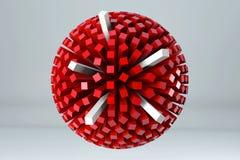 Sfären av kuber 3D framför bild stock illustrationer
