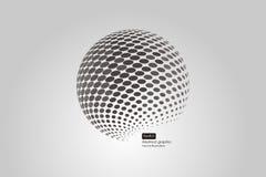 sfärer för halvton 3D inställda abstrakt bakgrunder prickigt Royaltyfria Foton