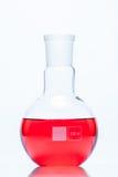 Sfärisk plan bottnad resistent flaska för temperatur Royaltyfria Foton