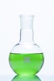 Sfärisk plan bottnad resistent flaska för temperatur Arkivbild