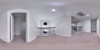 sfäriska 360 grader för illustration 3d, sömlös panorama av ett hus Royaltyfri Foto