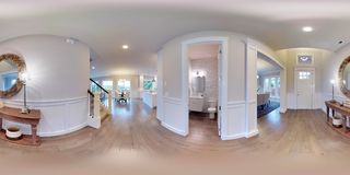 sfäriska 360 grader för illustration 3d, sömlös panorama av inredesignen Arkivbilder