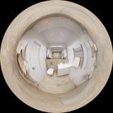 sfäriska 360 grader panorama 3D av badrummet Fotografering för Bildbyråer
