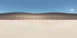 Sfäriska 360 grader sömlös panorama med Colosseumen i forntida Rome Royaltyfri Bild