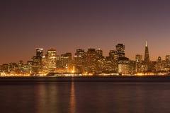 SF τη νύχτα στοκ εικόνες