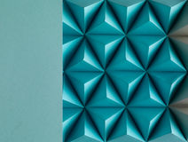Sf. Abstract blue paper poly  made from  tetrahedron background. Usefull for business cards and web Royalty Free Stock Photo