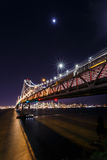 SF Bay Bridge at Night Royalty Free Stock Images