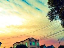 Sf de la puesta del sol Imagen de archivo libre de regalías