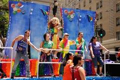 SF Pride Parade 2011. The Genentech float at the San Francisco 2011 Pride Parade Royalty Free Stock Photo
