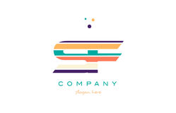 Sf s f line stripes pastel color alphabet letter logo icon templ Royalty Free Stock Photos