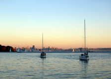 SF Sailing Royalty Free Stock Images