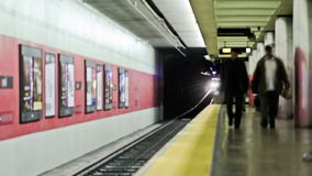 SF Subway Time Lapse. V1. San Francisco subway time lapse stock footage