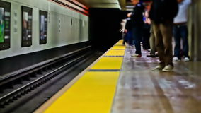 SF Subway Time Lapse stock video footage