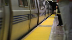 SF Subway Train Arriving stock footage