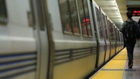 SF Subway Train Departing. V4. San Francisco subway train departing stock video