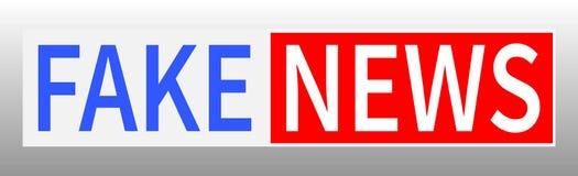 Sfałszowana wiadomość, wiadomości ze świata, TV wiadomości projekt wektor Obraz Stock
