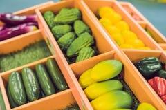 sfałszowanego owoc gemowego klingerytu zróżnicowani warzywa Dziecko edukaci karmowa zabawka fotografia stock