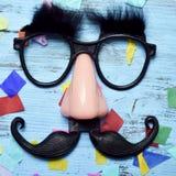 Sfałszowani szkła, nos i wąsy, obraz royalty free
