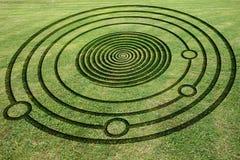 Sfałszowany uprawa okrąg w łące Zdjęcie Royalty Free