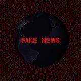 Sfałszowany wiadomość tekst z ziemią nocy i czerwieni hex koduje ilustrację Fotografia Stock