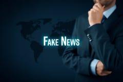 Sfałszowany wiadomości zagrożenie zdjęcie stock