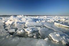 Sfacelo del fiume Volga Fotografie Stock