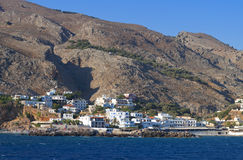 Sfakia port at Crete island in Greece Stock Photos