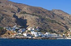 Sfakia port at Crete island in Greece Stock Photos