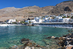 Sfakia village at Crete island in Greece Royalty Free Stock Image
