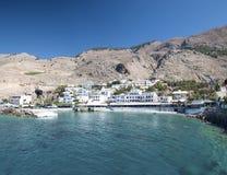 Crete, Sfakia wioska Fotografia Royalty Free