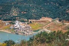 Sfendili es un pueblo abandonado y hundido Imágenes de archivo libres de regalías