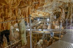 Sfendoni cave on Crete, Greece Stock Image