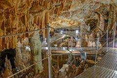 Sfendonihol op Kreta, Griekenland Stock Afbeelding