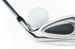 Sfera & randello di golf Fotografia Stock