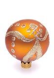 sfera arancione di natale fotografia stock libera da diritti