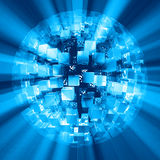 Sfera astratta blu Fotografie Stock Libere da Diritti