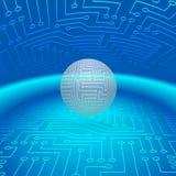 Sfera astratta di circuiti elettronici Fotografia Stock