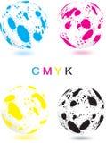 Sfera astratta di CMYK Fotografia Stock Libera da Diritti