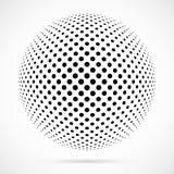 Sfera bianca del semitono di vettore 3D Fondo sferico punteggiato marchio Fotografia Stock Libera da Diritti