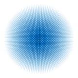 Sfera blu astratta Fotografia Stock